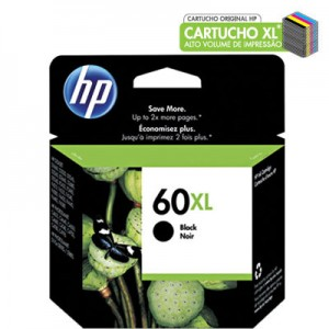 Cartucho HP 60XL preto 13,5ml CC641WB