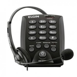 TELEFONE HEADSET ELGIN HST - 6000 C/BASE DISCADORA
