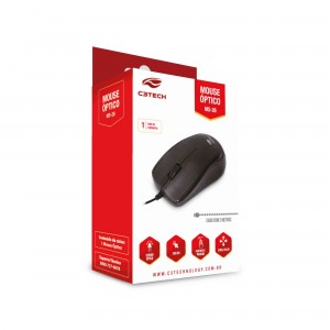 MOUSE C3TECH USB OPTICO PRETO MS-26BK
