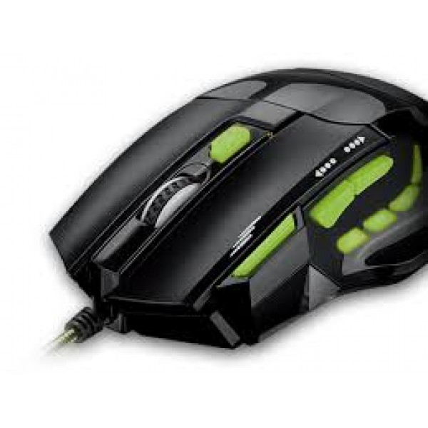 MOUSE MULTILASER GAMER USB 2400DPI C/QUICKFIRE VERDE - MO208