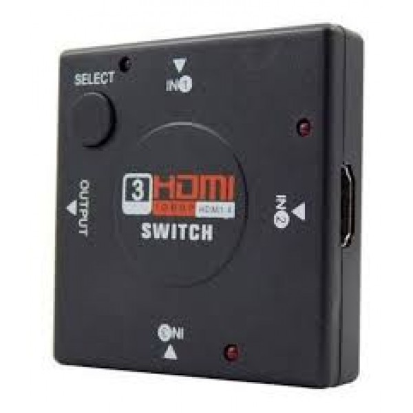 SWITCH HDMI C/3 ENTRADAS E 1 SAIDA