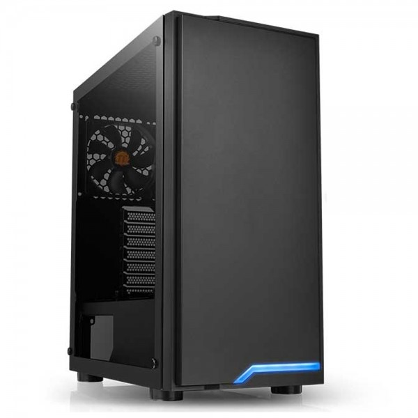 Gabinete Thermaltake H100 TG Black, SPCC, Vidro Temperado, Fan 120MM