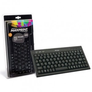 TECLADO MAXPRINT MINI SLIM USB 60724-4